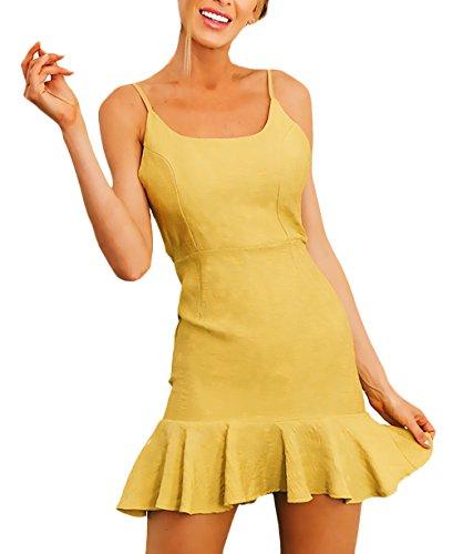 Damen kleider gelb festlich