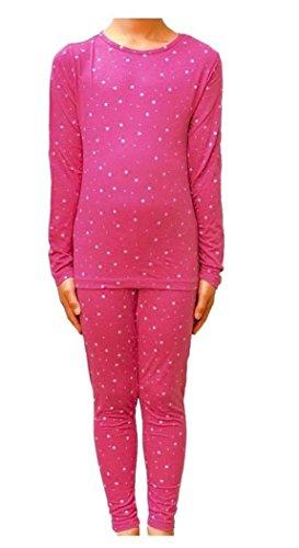 - 32 Degrees Heat Girls Long Sleeve Crew Neck and Legging Set Pink Fall Star