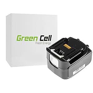 Green Cell® Batería de Herramienta Eléctrica para Makita TD132DRFXW (Li-Ion 3Ah 14.4V)