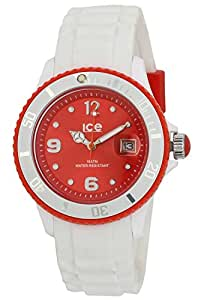 Ice Watch Unisex Red Dial Silicone Band Watch - SI.WD.U.S.11