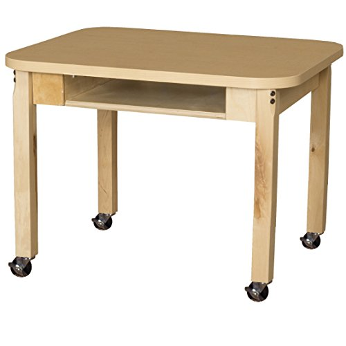 Wood Designs HPL1824DSK16C6 Mobile Classroom High Pressure Laminate Desk with Hardwood Legs, 16'' by Wood Designs