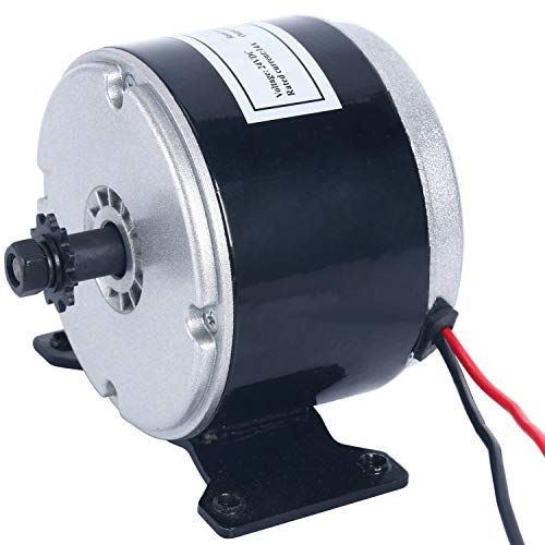 YaeTek 24V Electric Motor Brushed 250W 2750RPM Chain For E Scooter Drive Speed Control