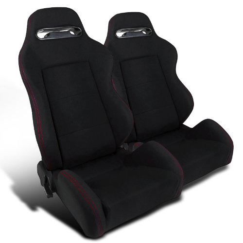 Black Cloth Fully Reclinable Racing