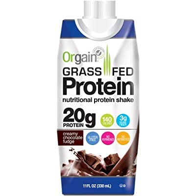 Orgain Grass Fed Protein Shakes, 2 Flavors, 11 Ounce, 12 Count by Orgain