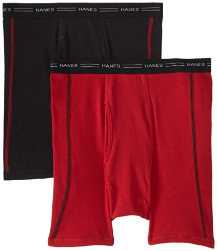 Hanes Men's 2 Pack Cool DRI No Ride Up Boxer Briefs, Cool Dr