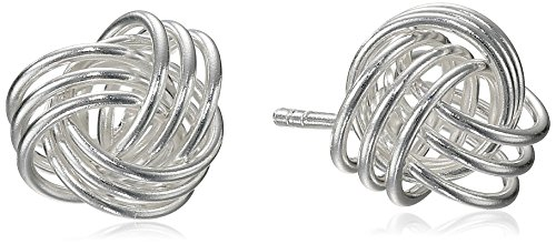 Silver Knot Stud Set (Sterling Silver Loveknot Post Stud Earrings)