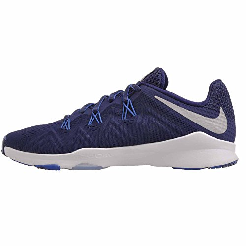 NIKE Women's Air Zoom Condition Indigo Training Shoe Binary Blue/Metallic Silver/Blue Jay Size 6.5 M US