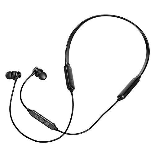 Wireless Headphones - Bluetooth Earbuds with Microphone - Sweatproof Workout Headset - HD Sound Quality Bluetooth Headphone Neckband - Rechargeable & Large Autonomy - Ideal for Gym, Jogging