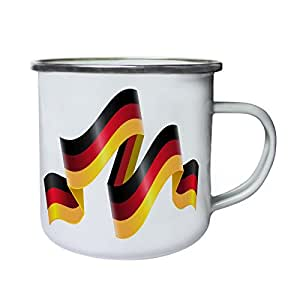 New Germany Ribbon Flag Retro,Tin, Enamel 10oz Mug l269e