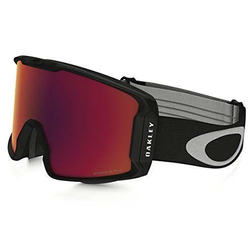 Oakley Men's Line Miner (A) Snow Goggles, Matte Black, Prizm Torch Iridium, - New Goggles Snow Oakley