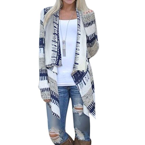 WLLW Women Cotton Geometric Print Casual Cape Cloak Thin Cardigan Coat