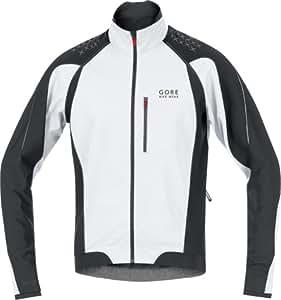 Gore Bike Wear Men's Alp-X 2.0 SO Zip-Off Sleves WindstopperJacket, White/Black, Small