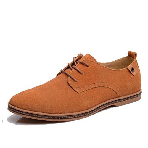 Lacet Feng Hommes Cuir Chaussures De Conseil Chameau