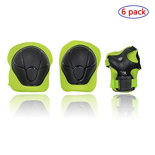 Kids Sports Safety Knee Elbow Wrist Protective Pads,Suitable for Skateboard,Biking,Mini Bike Riding and Other Extreme Sports