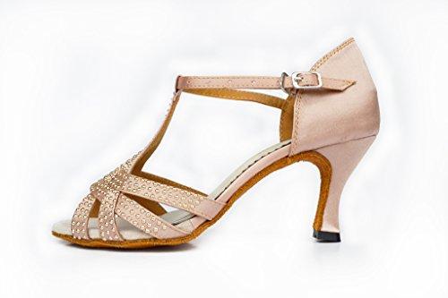 Meijili - Zapatillas de danza para mujer Skin Color