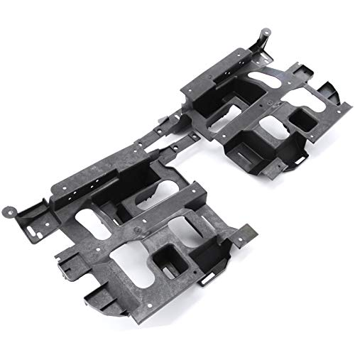 Red Hound Auto Headlight Support Mounting Bracket Pair Set for Driver and Passenger Sides Compatible with Chevrolet (2003-2006 Avalanche 1500, 2003-2007 Silverado 1500 2500HD/3500) (Hood Molding Pickup)
