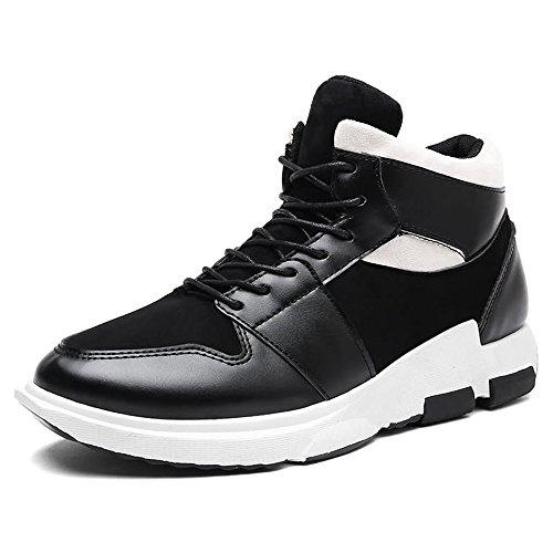 Hombres Cordones de Zapato Negro con tacón de Zapatos al de Libre de Moda los Plano Aire Tendencia wFrnwPqa