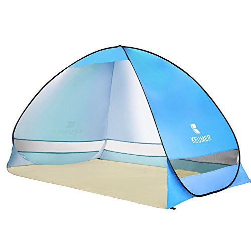 BATTOP Pop up Beach Tent Camping Sun Shelter Outdoor Automatic Cabana 3-4 Person Fishing Anti UV Beach Umbrella Beach Shelter, Sets up in Seconds