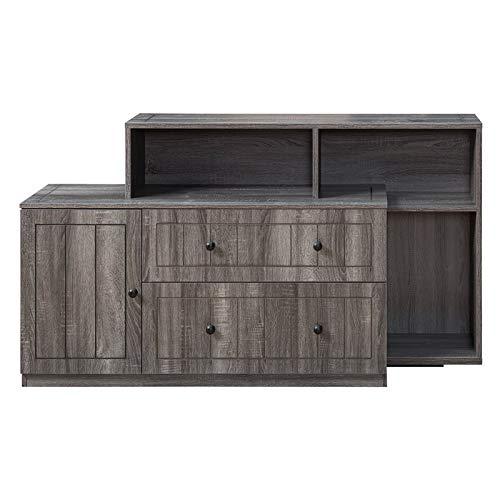 Furniture of America Hampton Modern Filing Cabinet in Distressed Gray