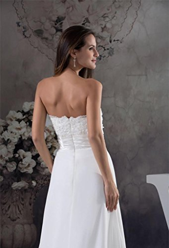 A Sweetheart Dress Bridal Long Beading Ivory Wedding Gown Women's DZdress line Appliques x1Owq14T