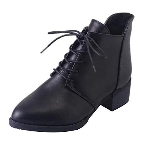donna Nero di spessi Stivali stivali vintage pelle Paolian Stivali Donna stivaletti fx8C7qRAwx