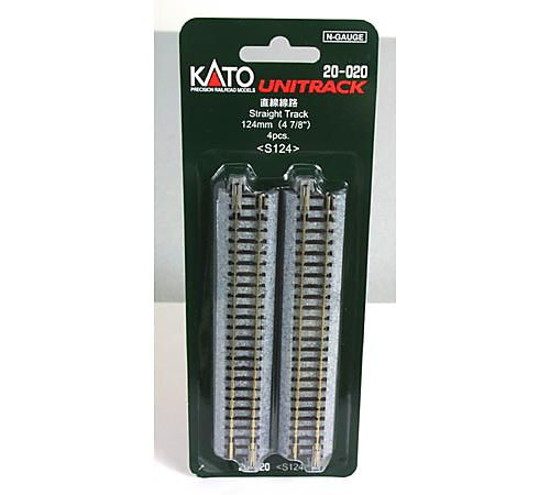 "N 124mm 4-7/8"" Straight (4) (japan import) Kato 20-020"