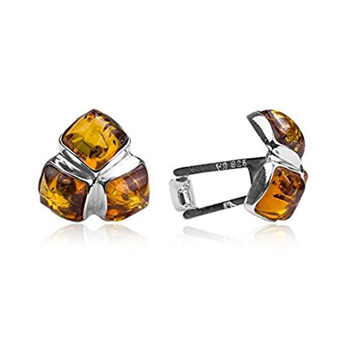 Ian and Valeri Co. Amber Sterling Silver Square Cufflinks ()