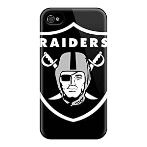 Cute Appearance Cover/tpu UAL180Uqrw Oakland Raiders Case For Iphone 4/4s