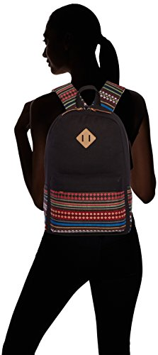 Vintage backpack picnic Black Canvas Backpack Retro Ladies University big camping Au for Plaza C5095 schoolbag outdoor Vintage backpack Sports EXTRA flug Fashion wpzxqSfIO