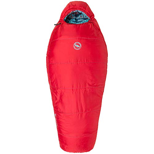 Big Agnes Little Red 15 Kids' Synthetic Mummy Sleeping Bag, Red, Right