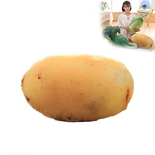 1pc 3D Vegetable Plush Toy Realistic Potato Throw Pillow Stuffed Pillow Cushion Novetly Cushions Pillow Durable Soft Pillow 20 x 12 inch - Roast Potato