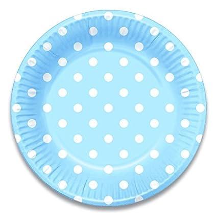 Lolliz 9 Inch Paper Plates. Blue Polka Dots 12-pieces  sc 1 st  Amazon.com & Amazon.com: Lolliz 9 Inch Paper Plates. Blue Polka Dots 12-pieces ...