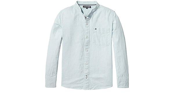 Tommy Hilfiger KB0KB03992 Cotton Linen Camisa niño Sky 12Y: Amazon.es: Ropa y accesorios