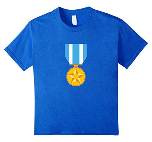 unisex-child Military Medal Emoji T-Shirt Honor Soldier W...