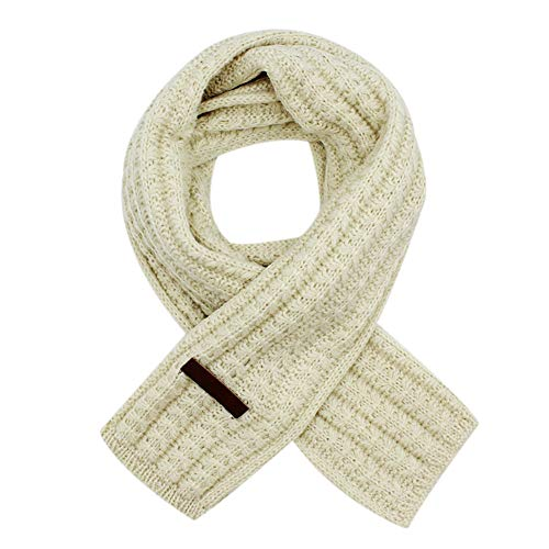 Knit Kids Scarf - RARITY-US Unisex Kids Thicken Knit Scarf Fashion Solid Color Neck Warmer Winter Warm Cotton Wrap Scarves for Girls Womens