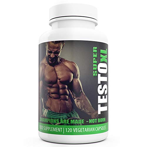 Super Testo XL Testosterone Booster for Men 120 Capsules UK Manufactured...