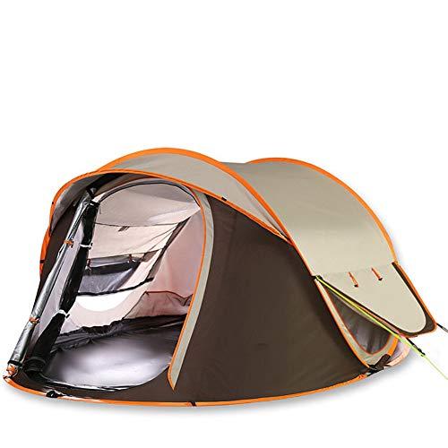 脚人工的なアナウンサーキャンプ用テントのポップアップ4-5名用アウトドア自動セットインスタントテントポップアップテントを投げる