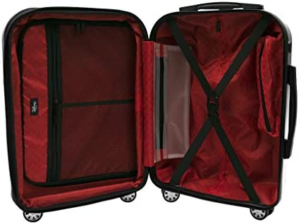 Red 55 cm Basics Pyramid Hardside Spinner Luggage