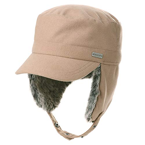 - Fancet Mens Ear Flaps Army Military Hunting Trapper Hat 24
