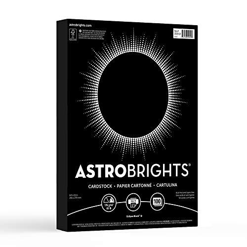 Black Card Stock (Neenah Paper 22024-01 Astrobrights Cardstock, Kraft Wrap, Eclipse Black, 100 Sheet (Pack of)