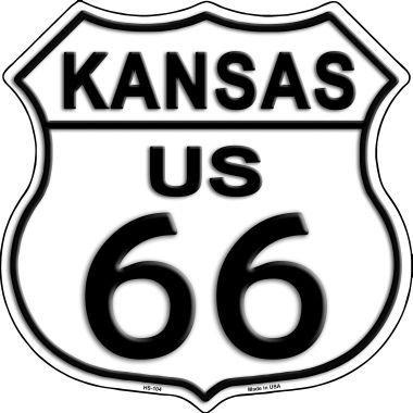 Rancho Denaro HS-104 Kansas Route 66 Highway Shield Metal (Route 66 Highway Shield)