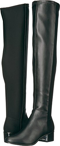 Calvin Klein Women's Carney Over the Knee Boot, Black Stretch, 10 Medium (Black Women Stretch Boot)