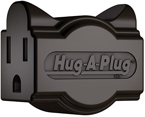 Hug-A-Plug Grounded Right Angle Adapter Plug - Brown [15a 125v Current (Brown Adapter)