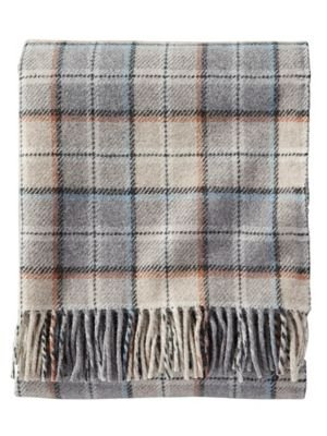 Pendleton Easy Care, Throw Blanket, Pearl Plaid - Made in the USA Machine washable Made of 100Percent wool - blankets-throws, bedroom-sheets-comforters, bedroom - 41u%2Bt02HW3L -