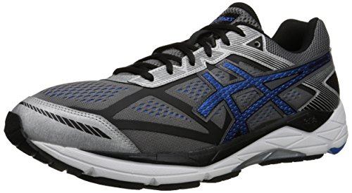 ASICS Men's Gel Foundation 12 Running Shoe, Carbon/Electric Blue/Black, 9 M US