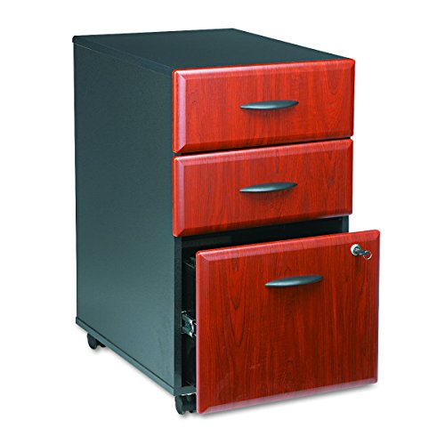 Series A 3 Drawer Mobile File Cabinet in Hansen Cherry and Galaxy by Bush Business Furniture