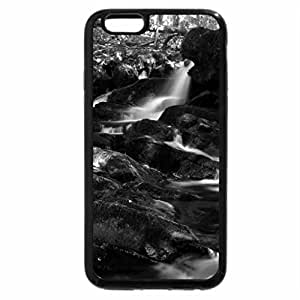 iPhone 6S Case, iPhone 6 Case (Black & White) - Buck Mountain Waterfall