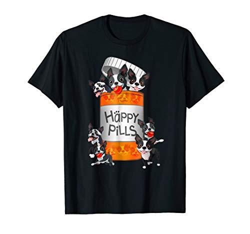 Boston Terrier Happy Pills T-shirt
