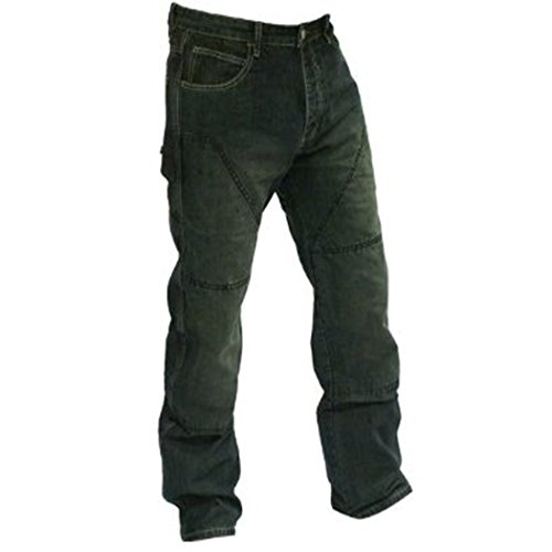 Price comparison product image Juicy Trerdz Denim Motorbike Biker Trousers Jeans Aramid Lining Black W32-L30