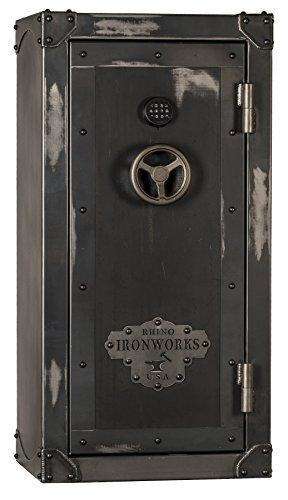 Rhino Safe CIWD6030X Electronic Lock No Swingout Rack Gun Safe, Natural